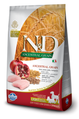 Farmina N&D Ancestral Grain Mini & Medium Light Adult с курицей и гранатом