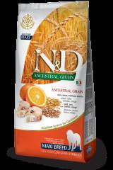 Farmina N&D Ancestral Grain Maxi Adult Dog с треской и апельсином