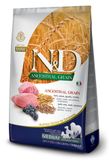 Farmina N&D Ancestral Grain Medium Adult Dog с мясом ягнёнка и черникой