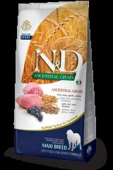 Farmina N&D Ancestral Grain Maxi Adult Dog с мясом ягнёнка и черникой