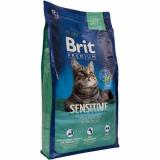 Брит Premium Sensitive для кошек с чувствительным пищеварением.