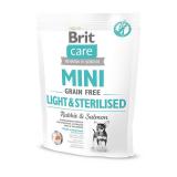 Brit Care Mini Light&Sterilised беззерновой корм с кроликом и лососем