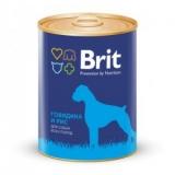 Brit Premium консервы для собак говядина и рис