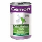 Gemon Dog Medium  кусочки ягненка с рисом