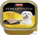 VOM FEINSTEN ADULT  меню для гурманов с говядиной, яйцом и ветчиной для собак