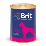 Brit Premium консервы для собак сердце и печень