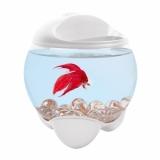 Tetra Betta Bubble белый аквариум-шар для петушков с освещением