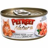 PETREET NATURA Розовый тунец с крабом сурими