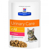 Hills Prescription Diet Feline c/d Multicare с лососем 85г