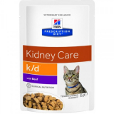 Hills Prescription Diet Feline k/d с говядиной 85г