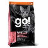 GO! Cat Solutions Carnivore All Life Stages Grain Free с лососем и треской