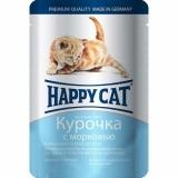 Happy Cat кусочки в соусе 100гр