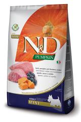 Farmina N&D Pumpkin Mini Adult Dog с мясом ягнёнка, тыквой и черникой
