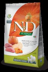 Farmina N&D Pumpkin Medium & Maxi Adult Dog с диким кабаном, тыквой и яблоком