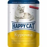 Happy Cat нежные кусочки и ломтики в яичном соусе 100гр