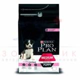 Pro Plan Medium Puppy с комплексом OPTIDERMA  для щенков средних пород
