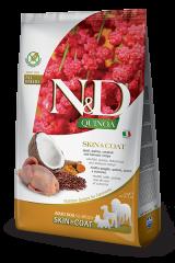 Farmina N&D Quinoa Adult Dog Skin & Coat с перепёлкой, киноа, кокосом и куркумой