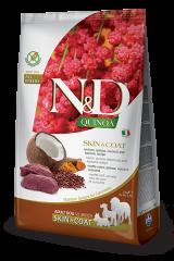 Farmina N&D Quinoa Adult Dog Skin & Coat с олениной, киноа, кокосом и куркумой