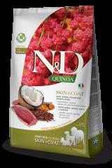 Farmina N&D Quinoa Adult Dog Skin & Coat с уткой, киноа, кокосом и куркумой