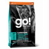 GO! Dog Solutions Carnivore Adult All Breed Grain Free 4 вида мяса: индейка, курица, лосось, утка