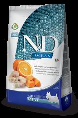 Farmina N&D Ocean Mini Adult Dog с треской, тыквой и апельсином