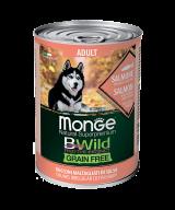MONGE GRAIN FREE ALL BREEDS ADULT SALMONE  лосось с тыквой и кабачками для собак всех пород