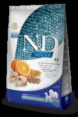 Farmina N&D Ocean Medium & Maxi Adult Dog с треской, спельтой, овсом и апельсином