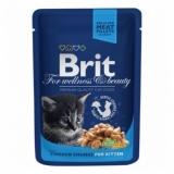 Brit Premium пауч для котят Кусочки с курочкой