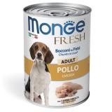 Monge Dog Fresh Chunks in Loaf  мясной рулет курица 400г