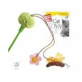 GiGwi  дразнилка с пчелой и цветочком , зеленая