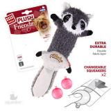 GiGwi Игрушка для собак Енот шкурка с пищалкой