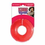 Kong игрушка для собак Сквиз Кольцо большое резиновое с пищалкой