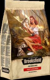 Brooksfield Puppy Large Breed с курицей и рисом