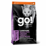 GO! Cat Solutions Skin+Coat Care All Life Stages Grain Free 4 вида мяса: курица, индейка, утка и лосось