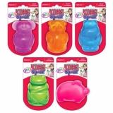 Kong игрушка для собак Сквиз Джелс (медведь, бегемот, слон, свинка, лягушка)