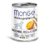 Monge Dog Monoproteico Fruits  паштет из индейки с рисом и цитрусовыми