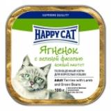 Happy Cat нежный паштет с ягнёнком и зелёной фасолью
