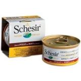 Schesir консервы для кошек   Куриное филе натуральное и рис