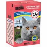 Bozita MINI Meat Mix (мясные кусочки в желе/мясной микс)