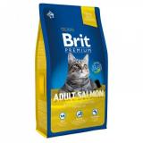 Брит Premium для взрослых кошек,с лососем