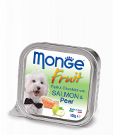 Monge Dog Fruit паштет из лосося с грушей