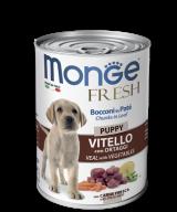 Monge Dog Puppy Fresh Мясной рулет с кусочками телятины и овощами