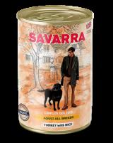 Savarra Adult All Breeds Dog влажный корм для собак с мясом индейки, рисом и морковью