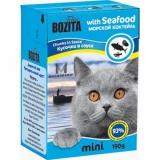 Bozita MINI Seafood ( мясные кусочки в желе/морской коктейль)