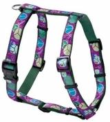 Hunter Smart шлейка для собак Ecco Fun Peace S /М нейлоновая с рисунком