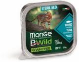 Monge Cat BWild GRAIN FREE беззерновые консервы из тунца с овощами для стерилизованных кошек