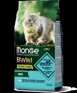 Monge BWild Grain Free Сat Adult Merluzzo для взрослых кошек с треской, картофелем и чечевицей