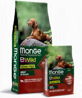Monge BWild Grain Free All Breeds Adult Agnello