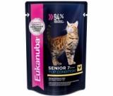 EUK Cat паучи для кошек старше 7 лет с курицей в соусе