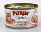 PETREET NATURA Куриная грудка с лососем